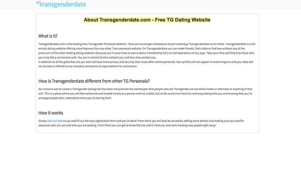 Pof transgender profile A Transgender