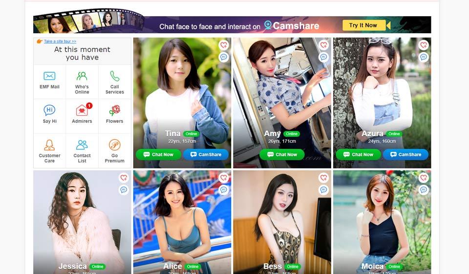 DateNiceAsian dating website profiles