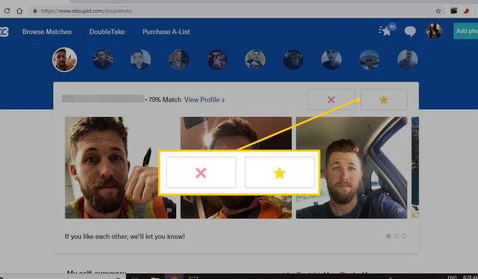 View okcupid profile without logging in
