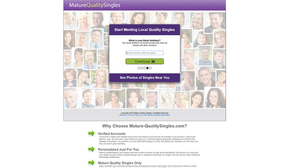 Recenzja Mature Quality Singles: Great Dating Site?