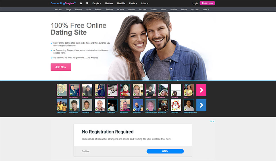 Website no login dating Find free