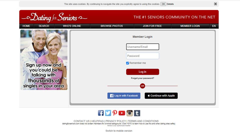 Site ul de dating non platit pentru seniori