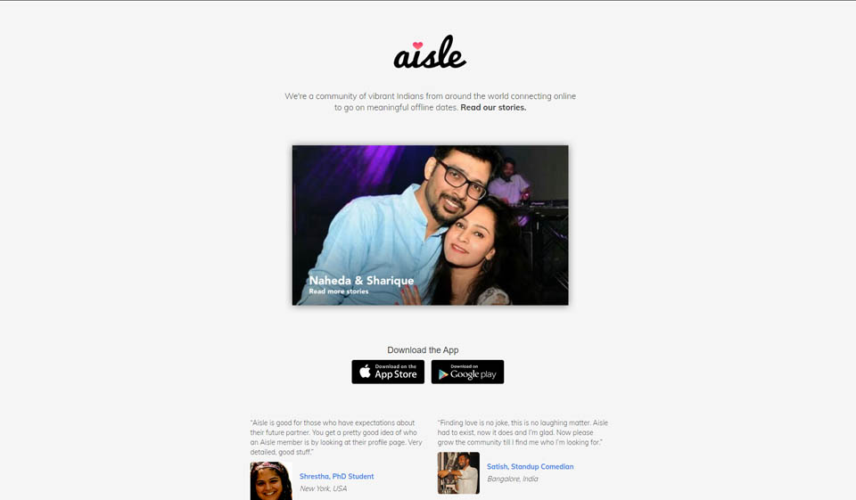 Aisle Review: A Great Dating Site